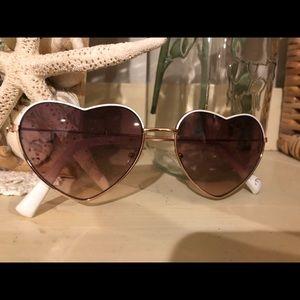 American Eagle heart shaped sunglasses